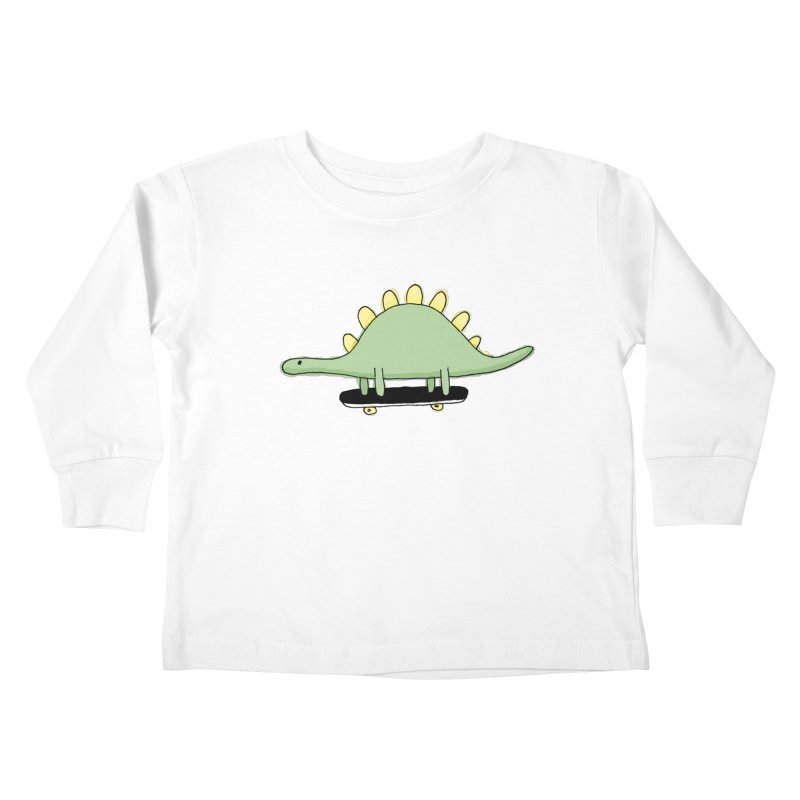 color dino skate Kids Toddler Longsleeve T-Shirt by austinbeale's Artist Shop