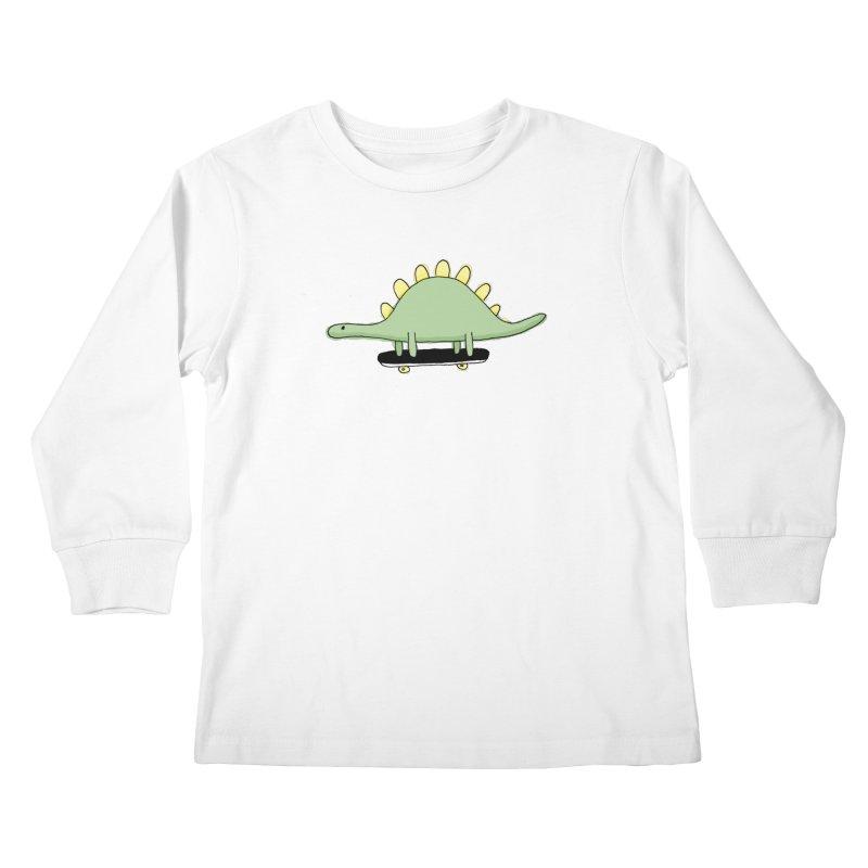 color dino skate Kids Longsleeve T-Shirt by austinbeale's Artist Shop