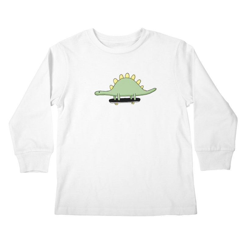 color dino skate Kids Longsleeve T-Shirt by austinbeale's Artist Shop