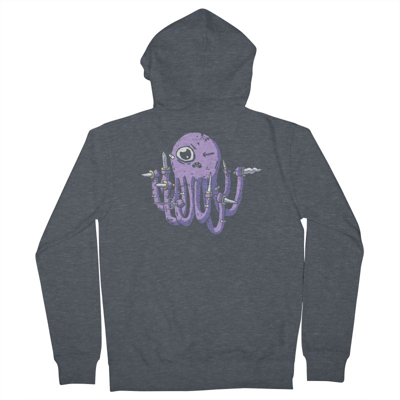 Staby Octopus Women's French Terry Zip-Up Hoody by austinbeale's Artist Shop