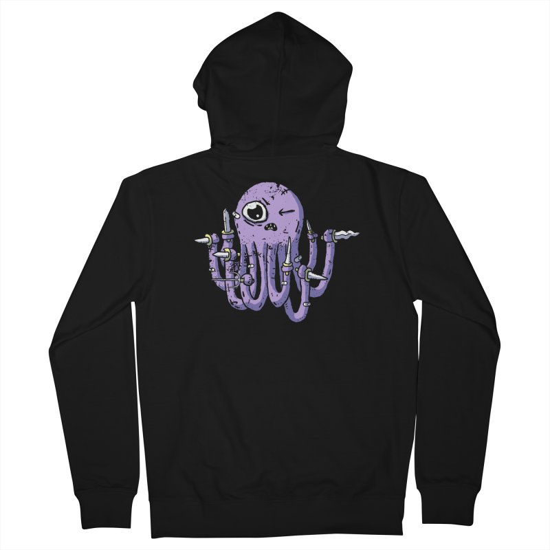 Staby Octopus Men's French Terry Zip-Up Hoody by austinbeale's Artist Shop