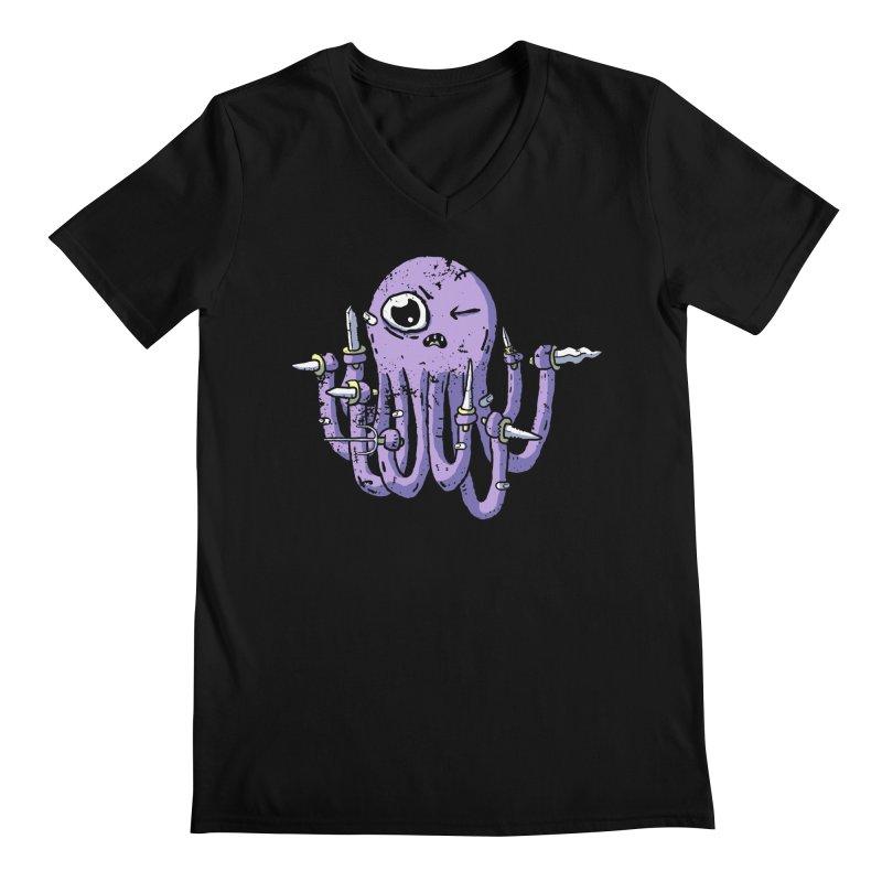 Staby Octopus Men's Regular V-Neck by austinbeale's Artist Shop