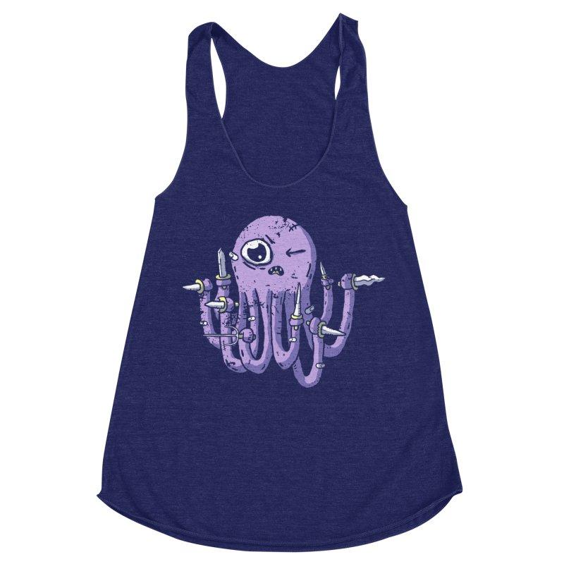 Staby Octopus Women's Racerback Triblend Tank by austinbeale's Artist Shop