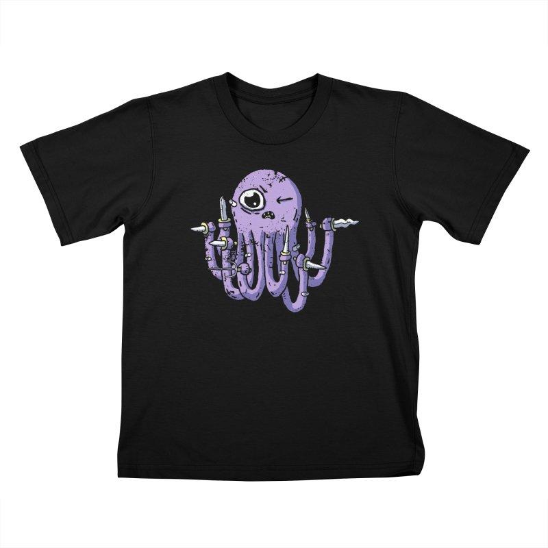 Staby Octopus Kids T-Shirt by austinbeale's Artist Shop