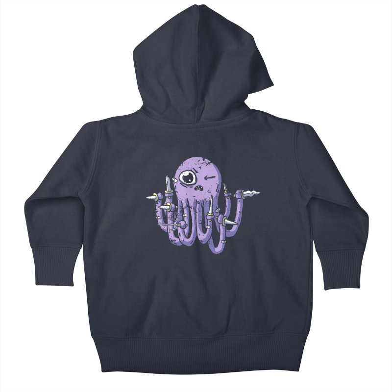 Staby Octopus Kids Baby Zip-Up Hoody by austinbeale's Artist Shop