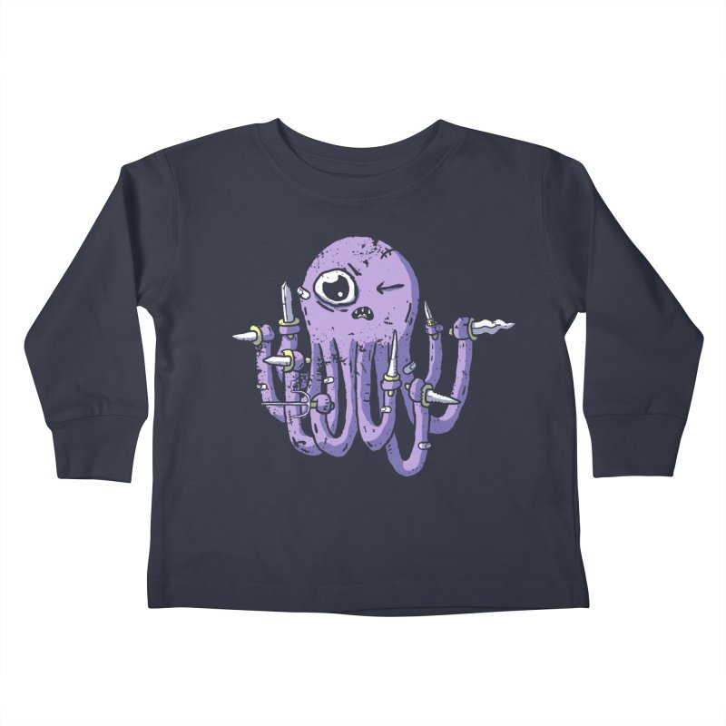 Staby Octopus Kids Toddler Longsleeve T-Shirt by austinbeale's Artist Shop