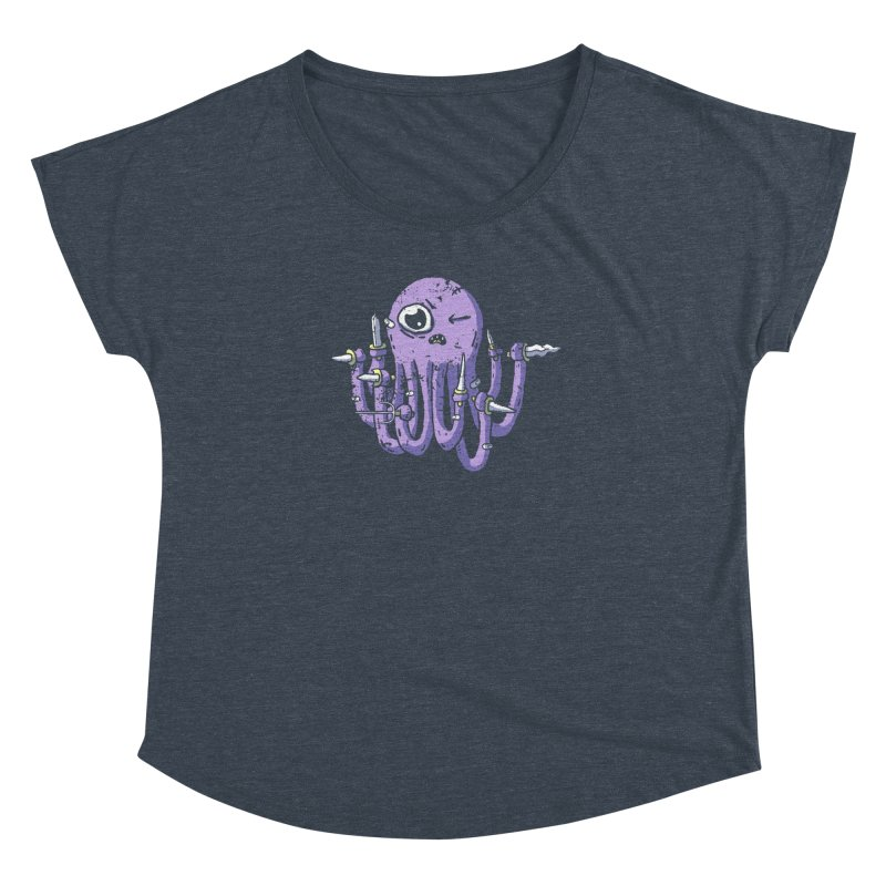 Staby Octopus Women's Dolman Scoop Neck by austinbeale's Artist Shop