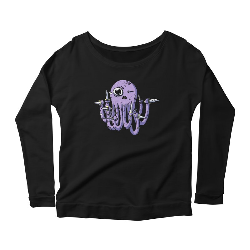 Staby Octopus Women's Scoop Neck Longsleeve T-Shirt by austinbeale's Artist Shop