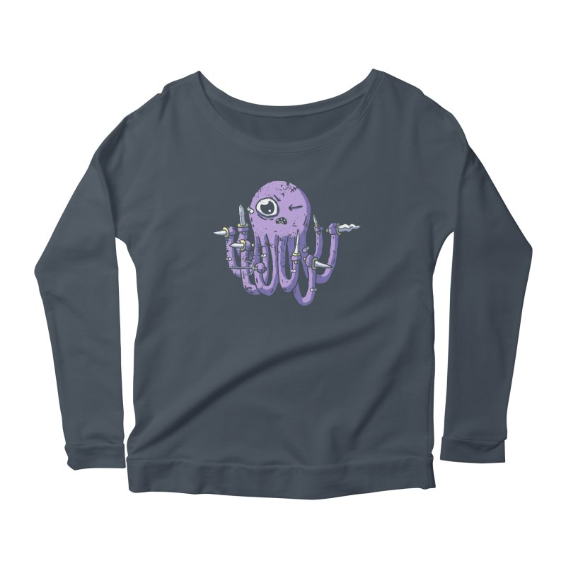 Staby Octopus Women's Scoop Neck Longsleeve T-Shirt by austinbeale's Artist Shop