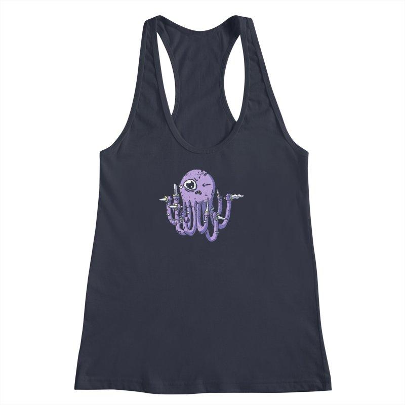 Staby Octopus Women's Racerback Tank by austinbeale's Artist Shop