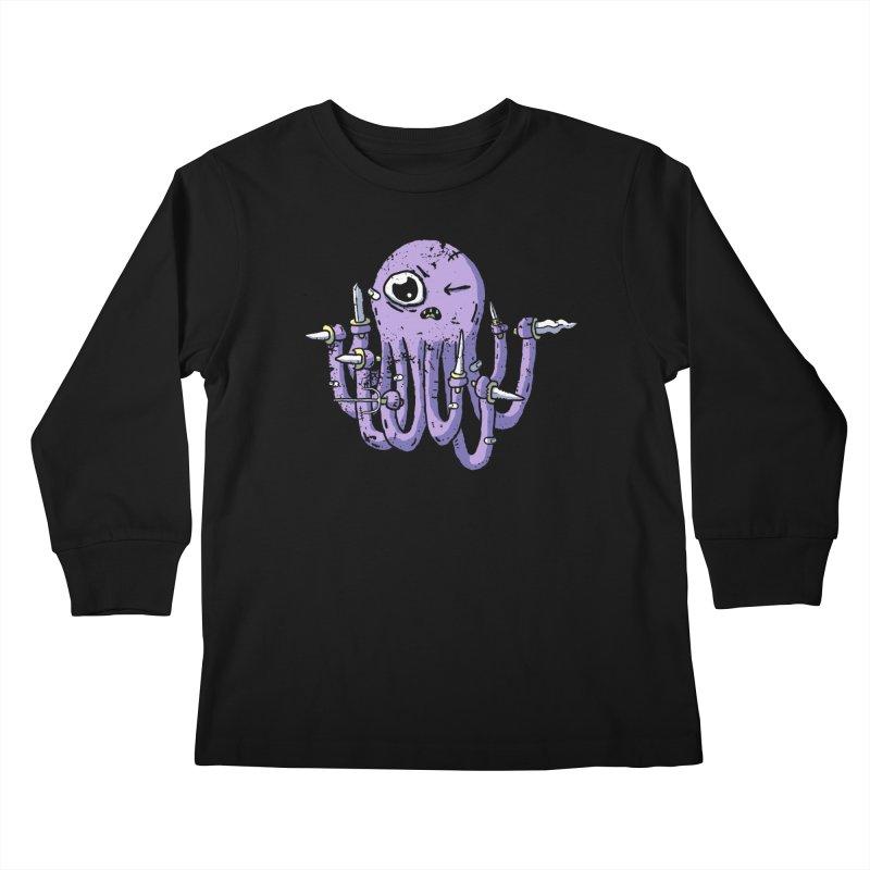 Staby Octopus Kids Longsleeve T-Shirt by austinbeale's Artist Shop