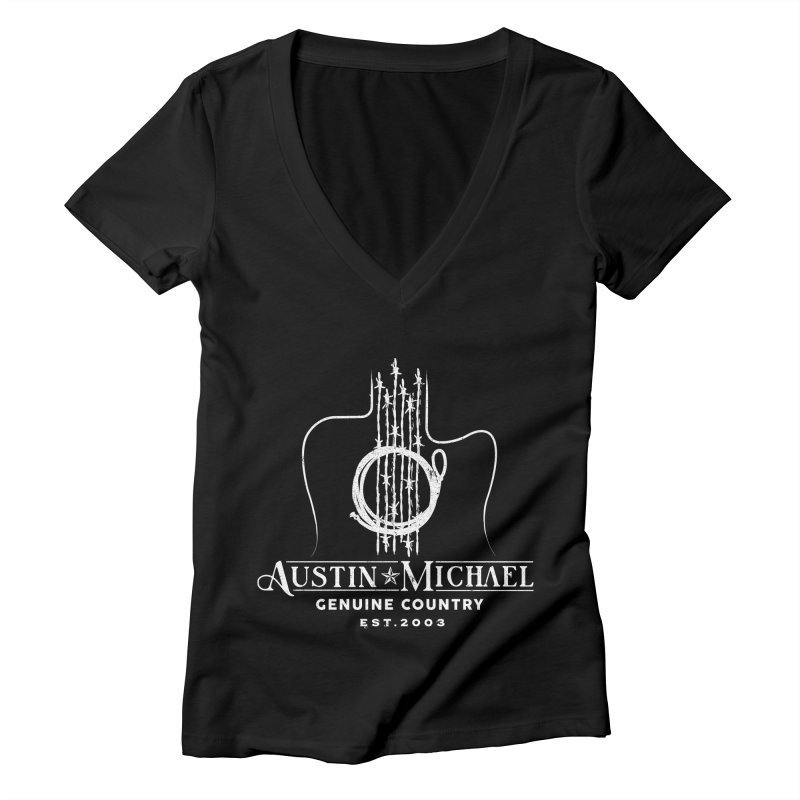 AustinMichael - Genuine Country Design Women's V-Neck by austinmichaelus's Artist Shop