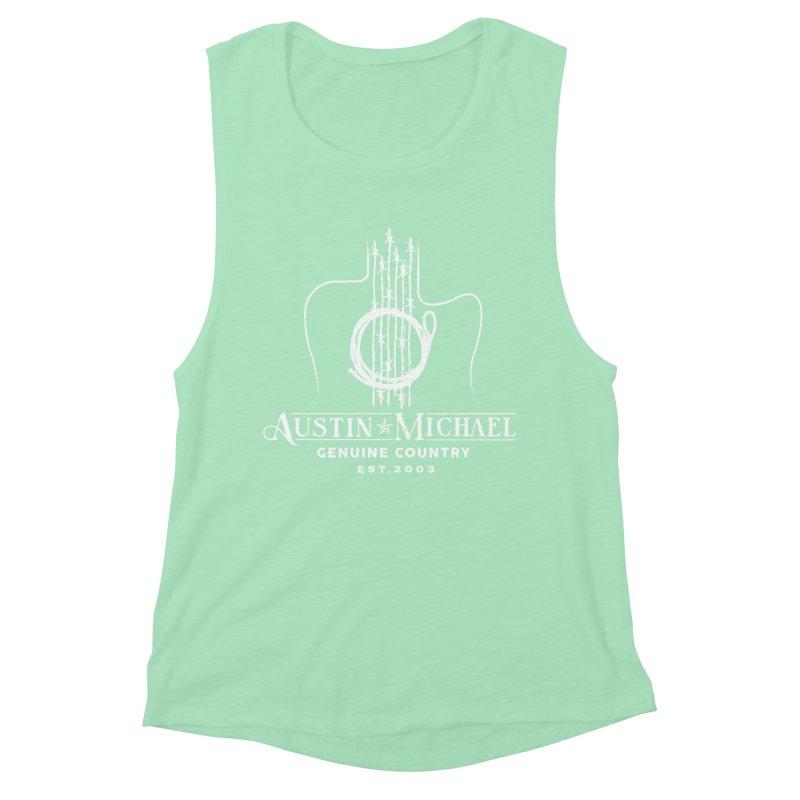 AustinMichael - Genuine Country Design Women's Muscle Tank by austinmichaelus's Artist Shop