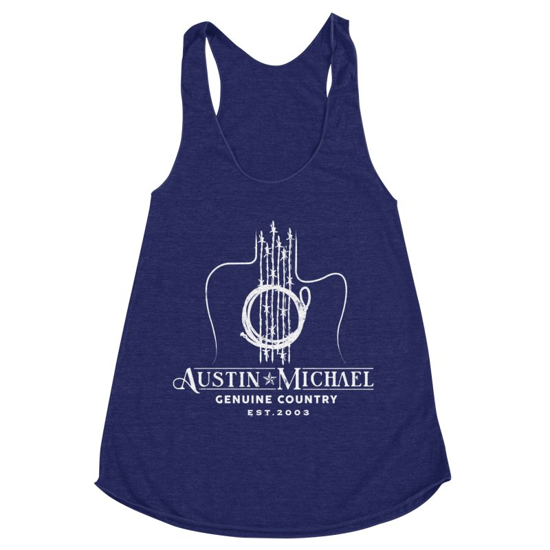 AustinMichael - Genuine Country Design Women's Racerback Triblend Tank by austinmichaelus's Artist Shop