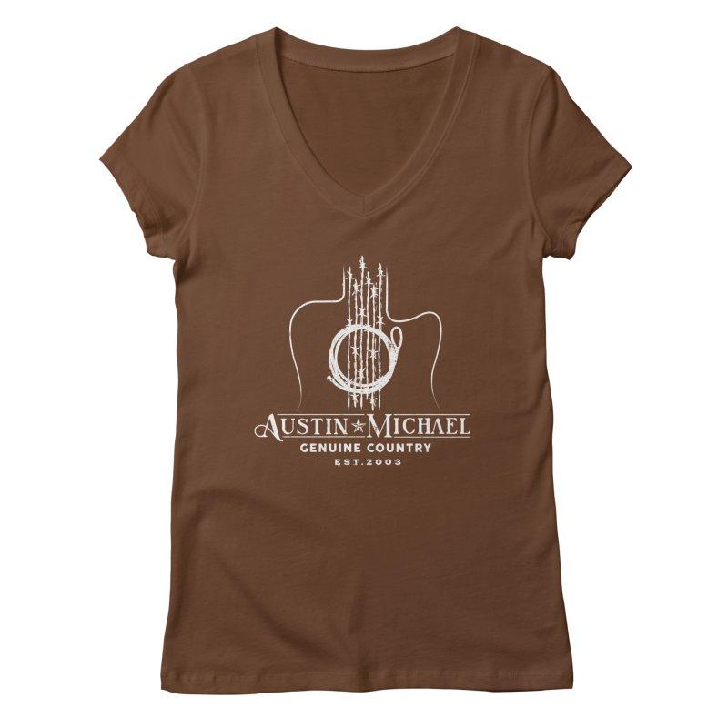 AustinMichael - Genuine Country Design Women's Regular V-Neck by austinmichaelus's Artist Shop
