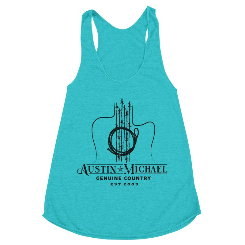 Austin Michael Genuine Country - Light Colors Women's Racerback Triblend Tank by austinmichaelus's Artist Shop