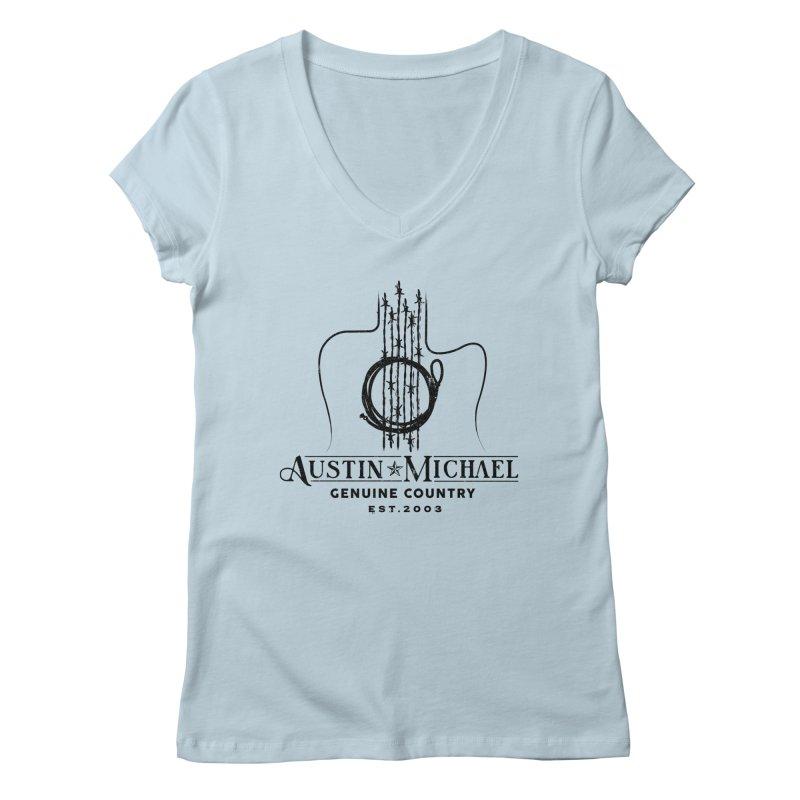 Austin Michael Genuine Country - Light Colors Women's Regular V-Neck by austinmichaelus's Artist Shop