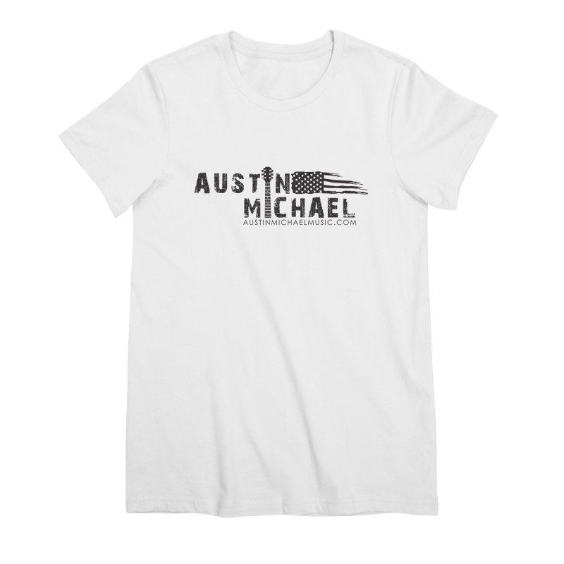 Austin Michael - USA  - for light colors Women's Premium T-Shirt by austinmichaelus's Artist Shop