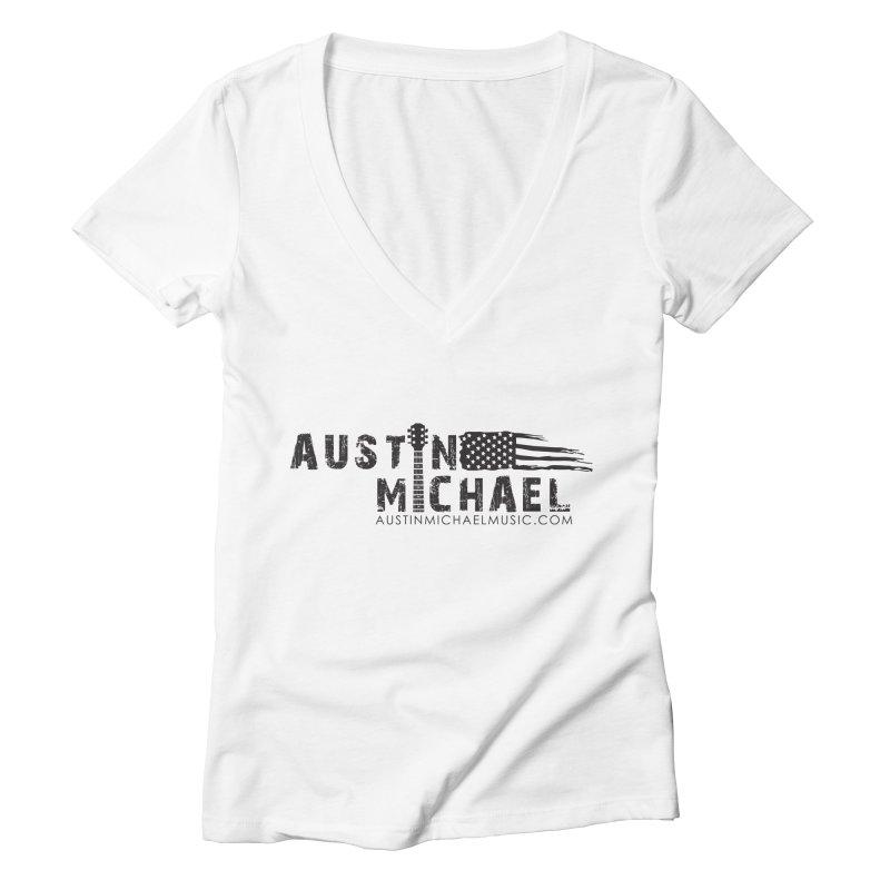 Austin Michael - USA  - for light colors Women's V-Neck by austinmichaelus's Artist Shop