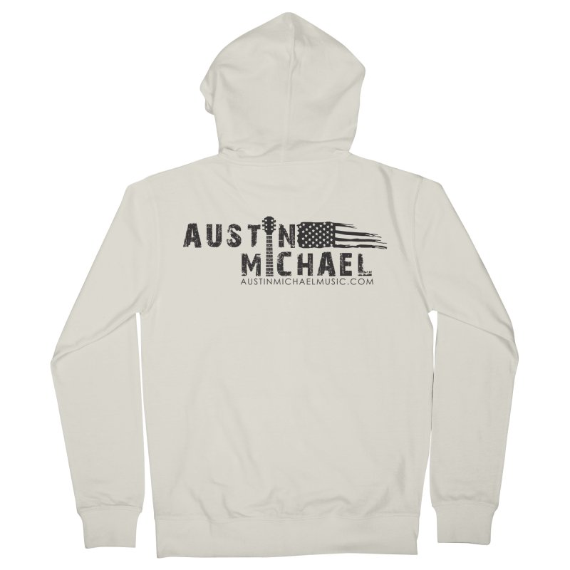 Austin Michael - USA  - for light colors Men's French Terry Zip-Up Hoody by austinmichaelus's Artist Shop