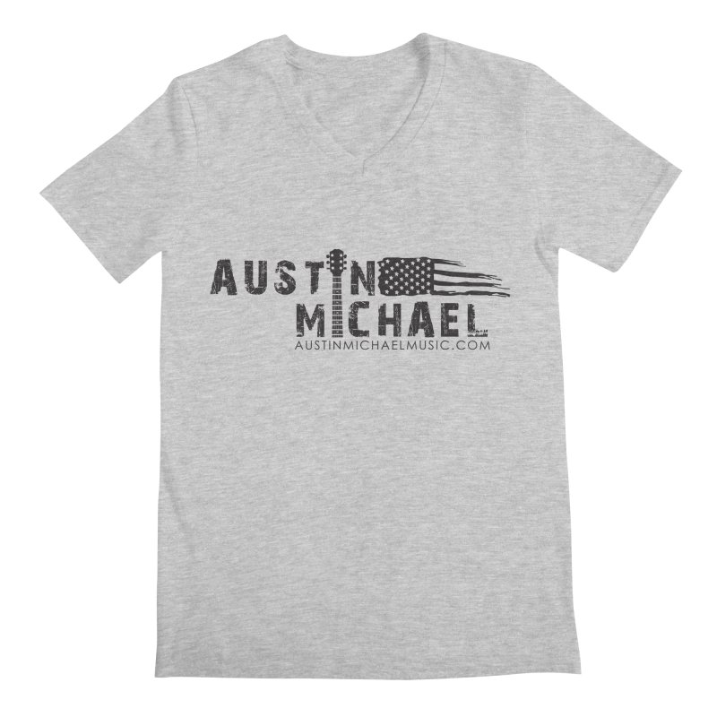Austin Michael - USA  - for light colors Men's Regular V-Neck by austinmichaelus's Artist Shop
