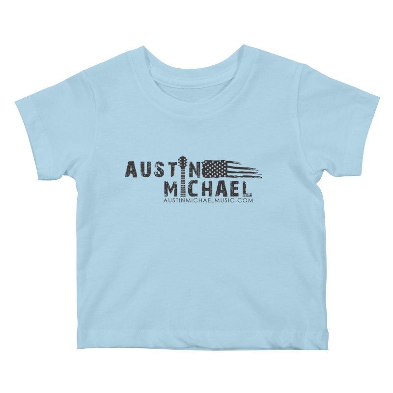Austin Michael - USA  - for light colors Kids Baby T-Shirt by austinmichaelus's Artist Shop