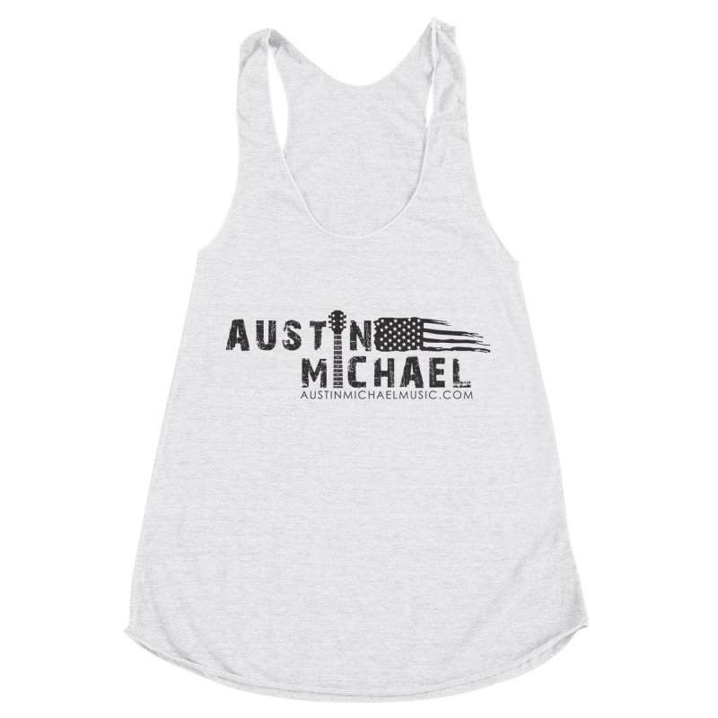 Austin Michael - USA  - for light colors Women's Racerback Triblend Tank by austinmichaelus's Artist Shop