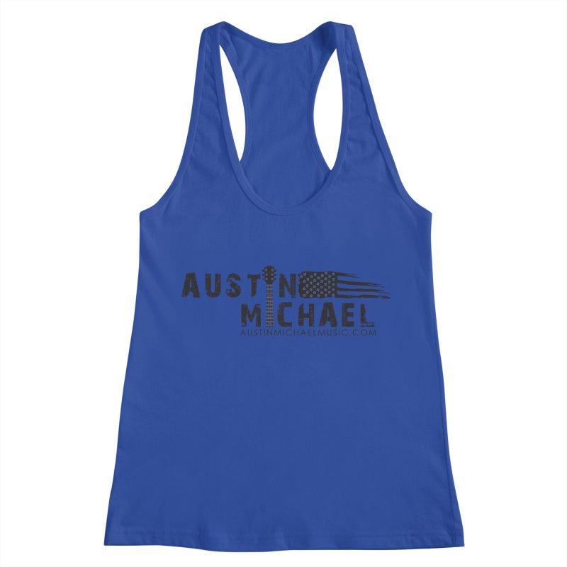 Austin Michael - USA  - for light colors Women's Racerback Tank by austinmichaelus's Artist Shop