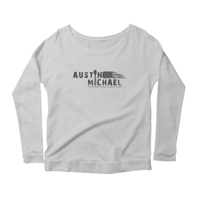 Austin Michael - USA  - for light colors Women's Scoop Neck Longsleeve T-Shirt by austinmichaelus's Artist Shop