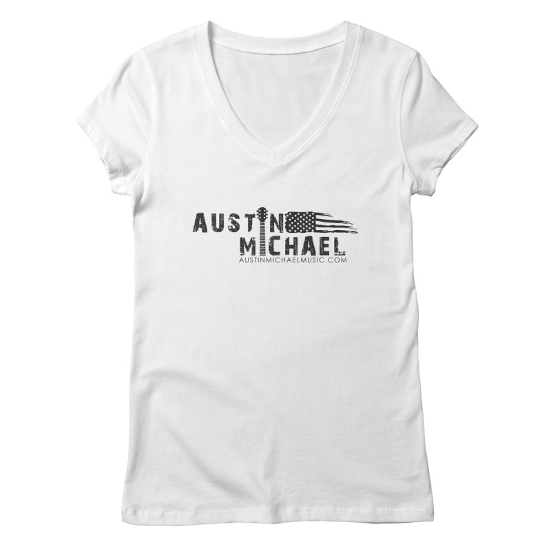 Austin Michael - USA  - for light colors Women's Regular V-Neck by austinmichaelus's Artist Shop