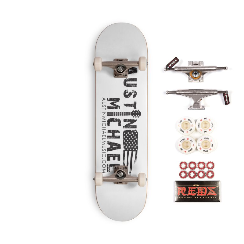 Austin Michael - USA  - for light colors Accessories Complete - Pro Skateboard by austinmichaelus's Artist Shop