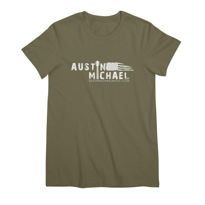 Austin Michael - USA  - for dark colors Women's Premium T-Shirt by austinmichaelus's Artist Shop