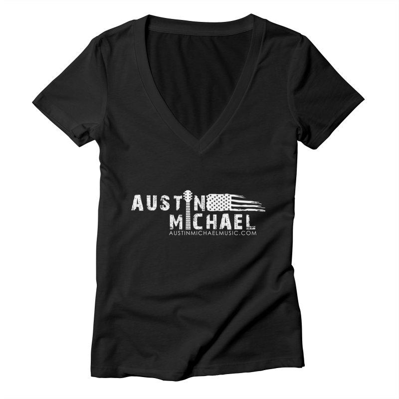 Austin Michael - USA  - for dark colors Women's Deep V-Neck V-Neck by austinmichaelus's Artist Shop