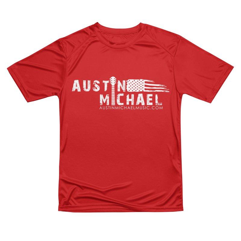 Austin Michael - USA  - for dark colors Men's Performance T-Shirt by austinmichaelus's Artist Shop