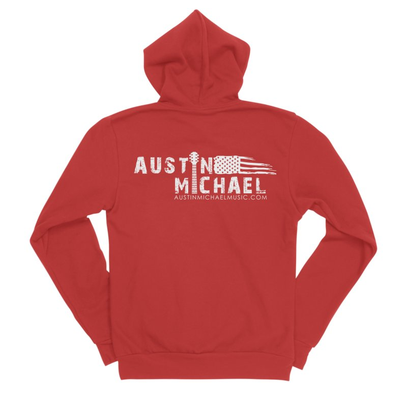 Austin Michael - USA  - for dark colors Men's Zip-Up Hoody by austinmichaelus's Artist Shop