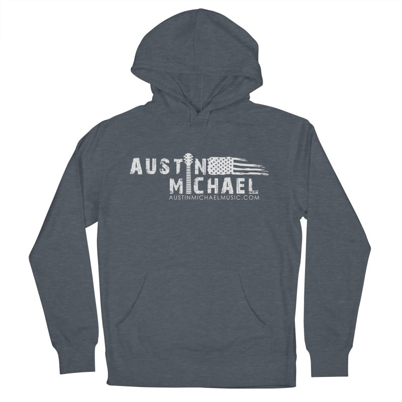Austin Michael - USA  - for dark colors Men's French Terry Pullover Hoody by austinmichaelus's Artist Shop