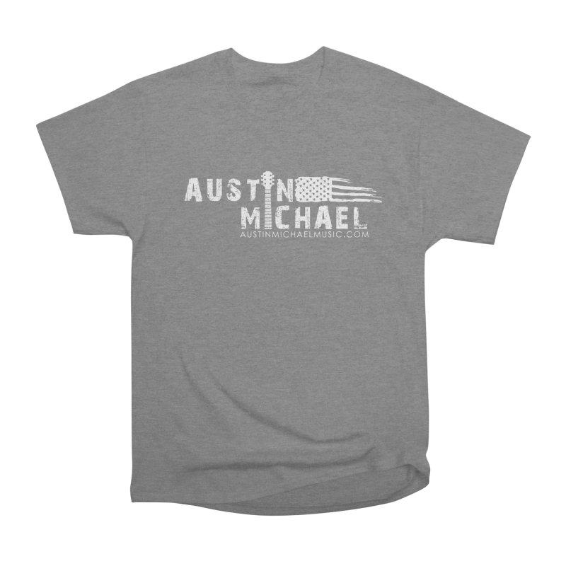 Austin Michael - USA  - for dark colors Men's Heavyweight T-Shirt by austinmichaelus's Artist Shop