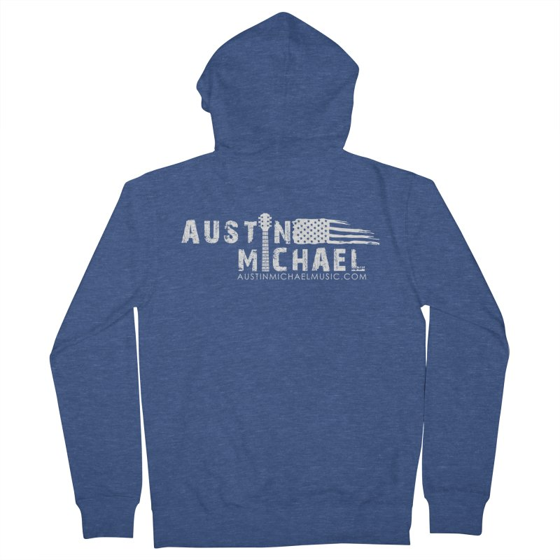 Austin Michael - USA  - for dark colors Men's French Terry Zip-Up Hoody by austinmichaelus's Artist Shop