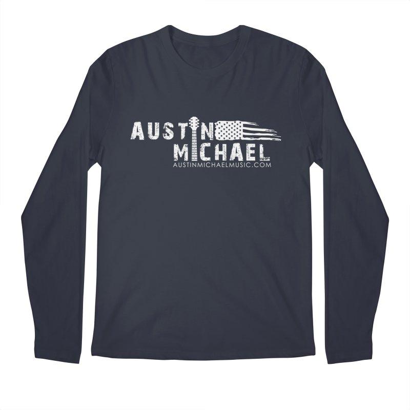Austin Michael - USA  - for dark colors Men's Regular Longsleeve T-Shirt by austinmichaelus's Artist Shop