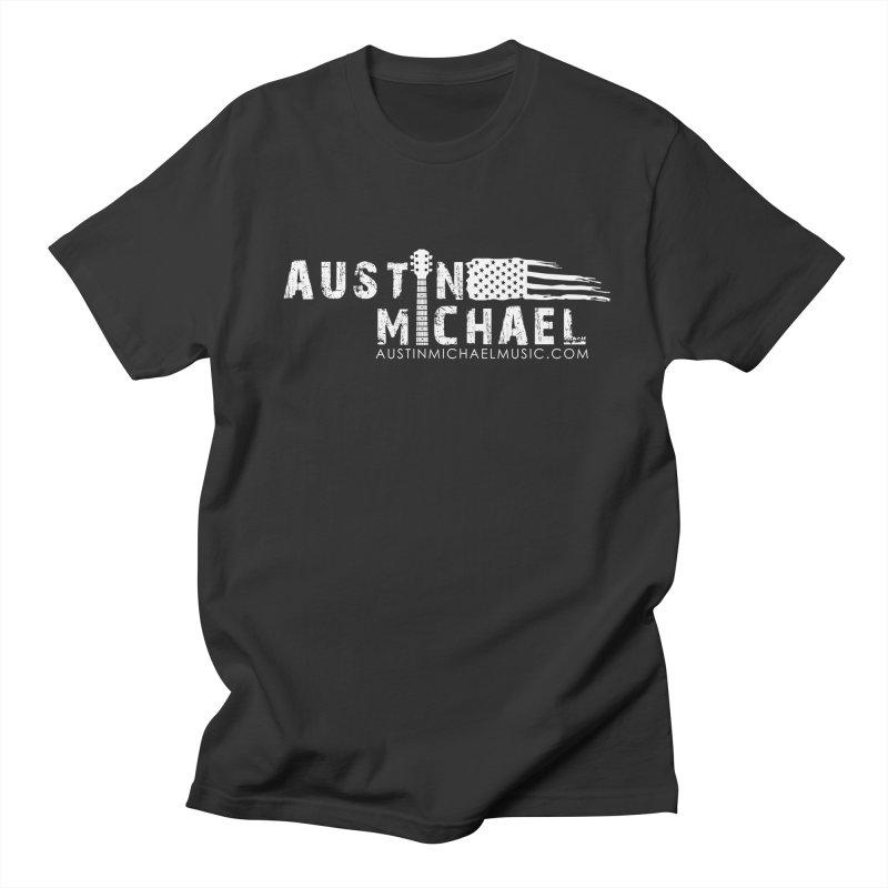 Austin Michael - USA  - for dark colors Men's Regular T-Shirt by austinmichaelus's Artist Shop