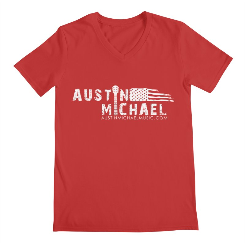 Austin Michael - USA  - for dark colors Men's V-Neck by austinmichaelus's Artist Shop