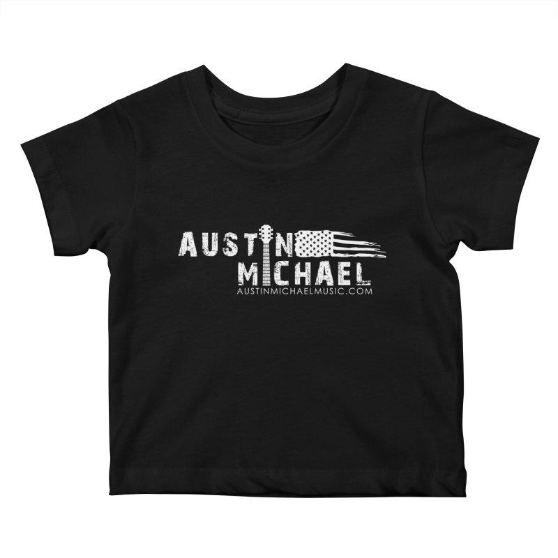 Austin Michael - USA  - for dark colors Kids Baby T-Shirt by austinmichaelus's Artist Shop