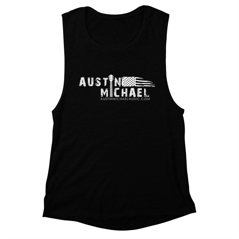 Austin Michael - USA  - for dark colors Women's Muscle Tank by austinmichaelus's Artist Shop