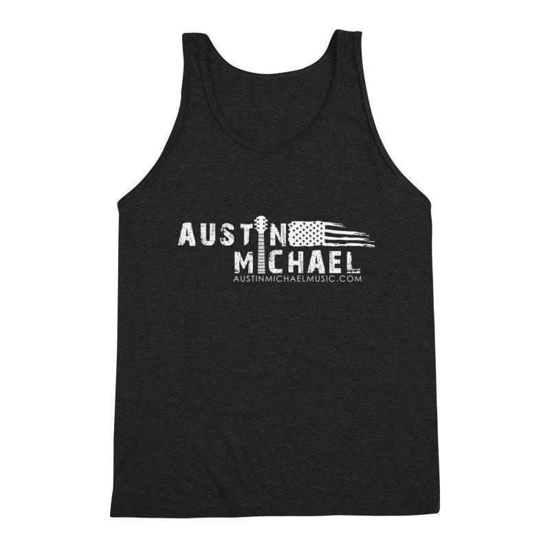 Austin Michael - USA  - for dark colors Men's Triblend Tank by austinmichaelus's Artist Shop