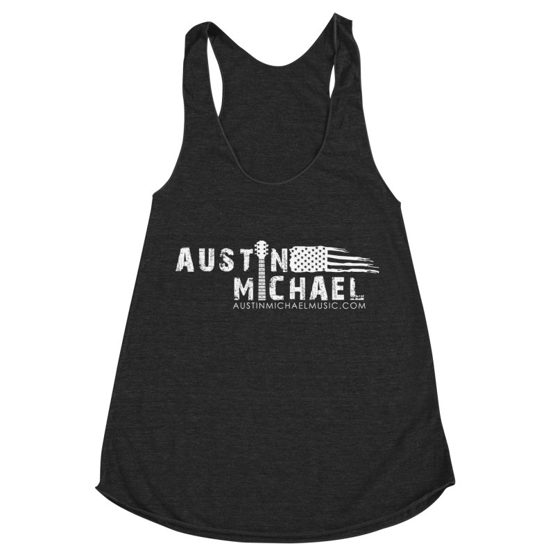 Austin Michael - USA  - for dark colors Women's Racerback Triblend Tank by austinmichaelus's Artist Shop