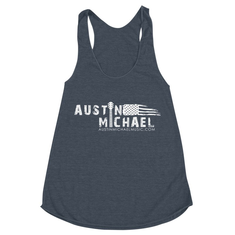 Austin Michael - USA  - for dark colors Women's Racerback Triblend Tank by austinmichaelus's Artist Shop