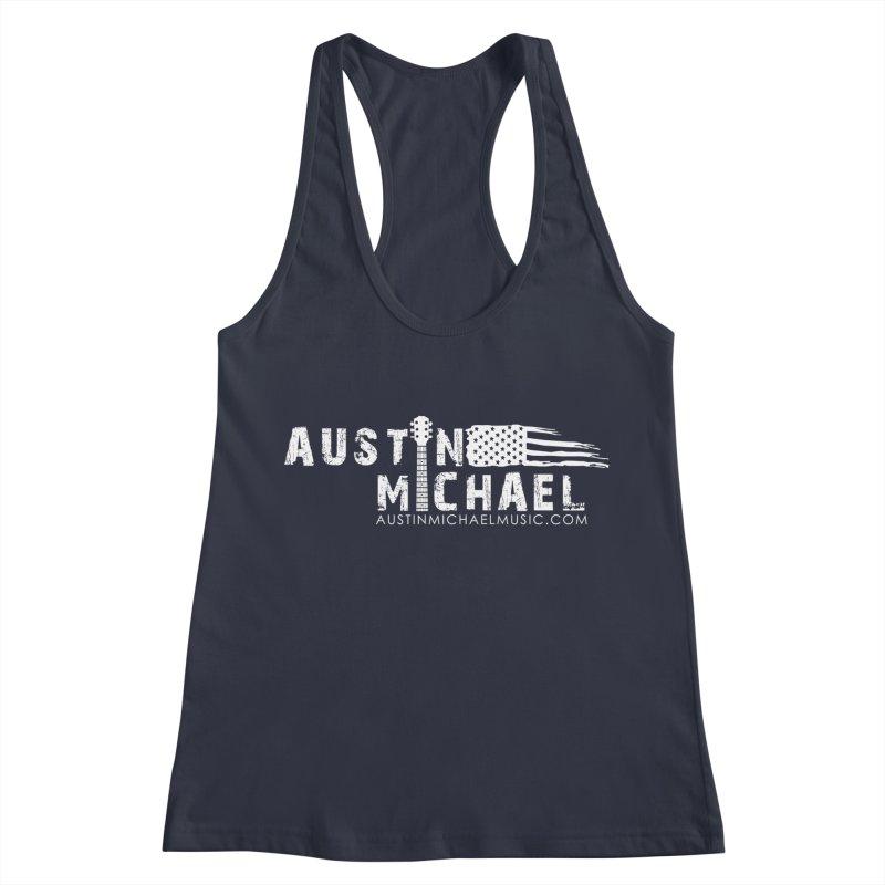 Austin Michael - USA  - for dark colors Women's Racerback Tank by austinmichaelus's Artist Shop