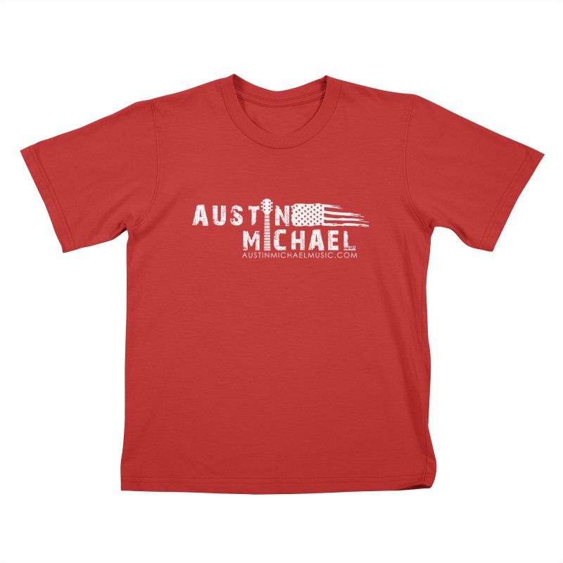 Austin Michael - USA  - for dark colors Kids T-Shirt by austinmichaelus's Artist Shop