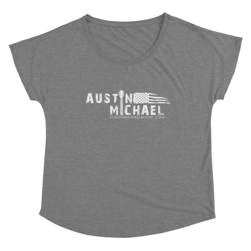 Austin Michael - USA  - for dark colors Women's Scoop Neck by austinmichaelus's Artist Shop