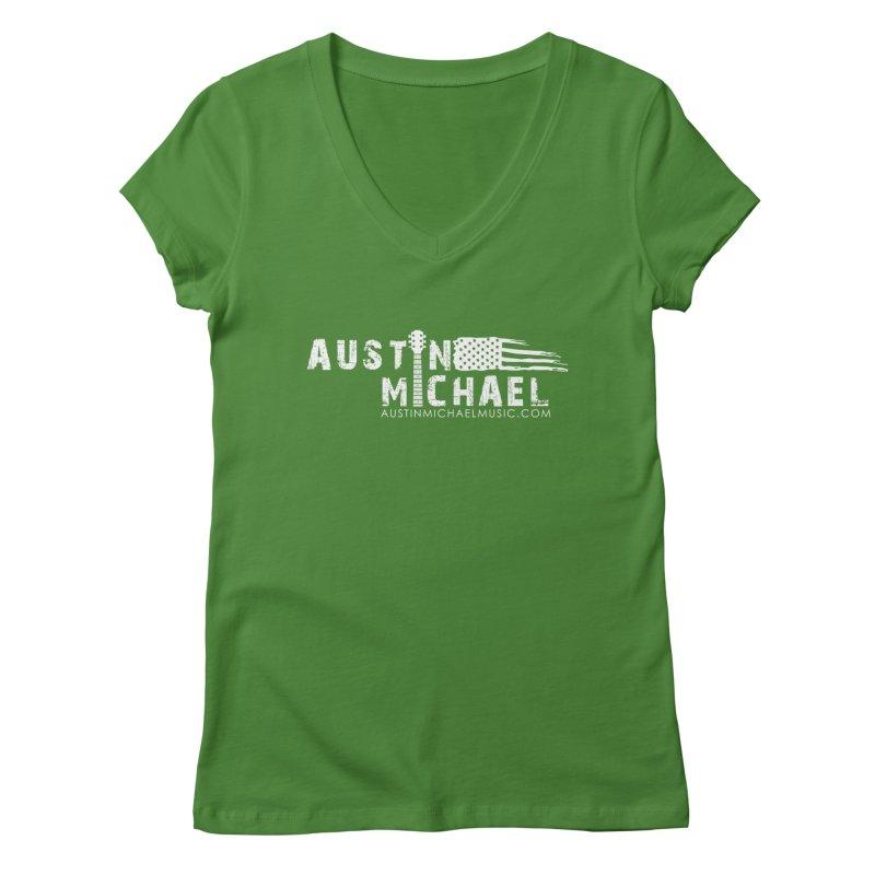Austin Michael - USA  - for dark colors Women's Regular V-Neck by austinmichaelus's Artist Shop